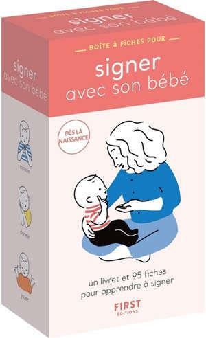 Signer avec mon bébé : boîte à fiches