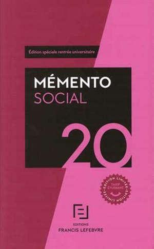 Mémento social 2020