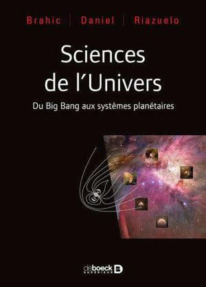 Sciences de l'Univers : du big bang aux systèmes planétaires