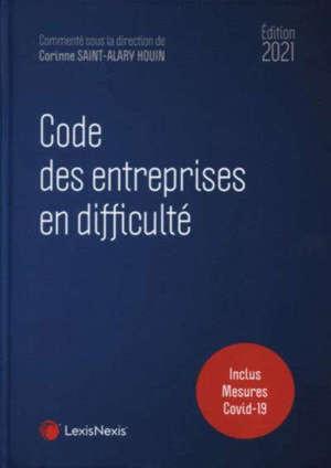 Code des entreprises en difficulté : 2021