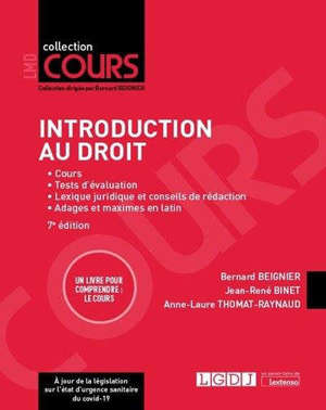 Introduction au droit : cours, premier semestre de L1