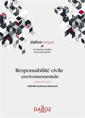 Responsabilité civile environnementale