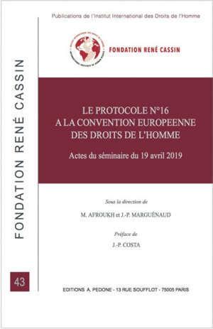 Le protocole n° 16 à la Convention européenne des droits de l'homme : actes du séminaire du 19 avril 2019