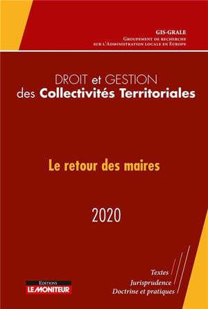 Droit et gestion des collectivités territoriales : 2020