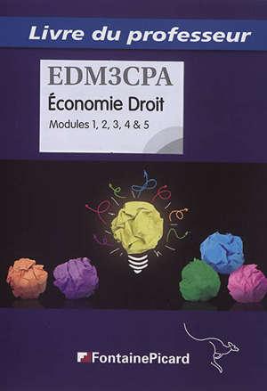Economie, droit, bac pro : modules 1 à 5