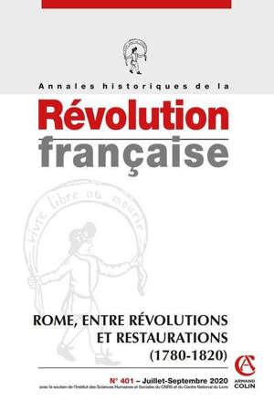 Annales historiques de la Révolution française. n° 401
