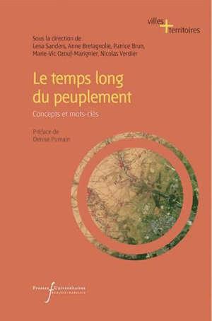 Le temps long du peuplement : concepts et mots-clés