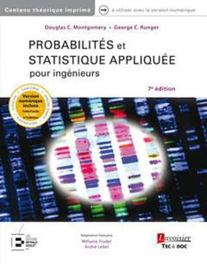 Probabilités et statistique appliquée pour ingénieurs