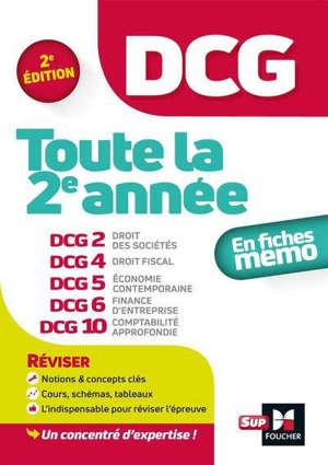 DCG, toute la 2e année : en fiches mémo