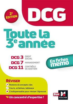 DCG, toute la 3e année : en fiches mémo