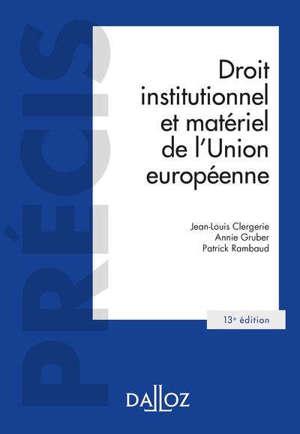 Droit institutionnel et matériel de l'Union européenne : 2020