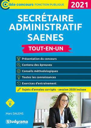 Secrétaire administratif : tout-en-un, catégorie B : 2021