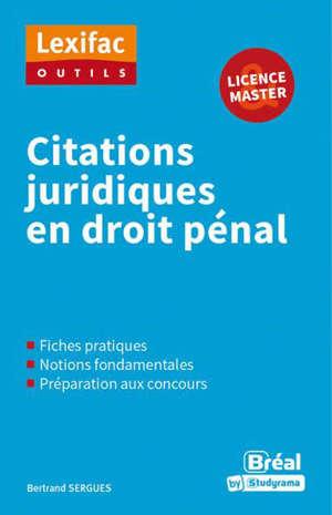 Citations juridiques en droit pénal