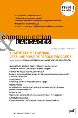 COMMUNICATION ET LANGAGES 2020, N.206