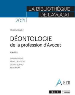 Déontologie de la profession d'avocat : 2021