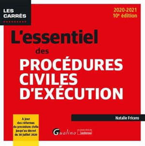 L'essentiel des procédures civiles d'exécution : 2020-2021