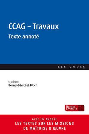 CCAG-Travaux : texte annoté