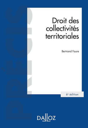 Droit des collectivités territoriales