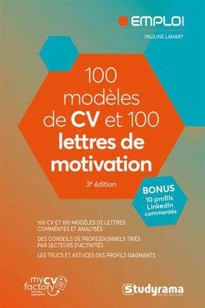 100 modèles de CV et 100 lettres de motivation