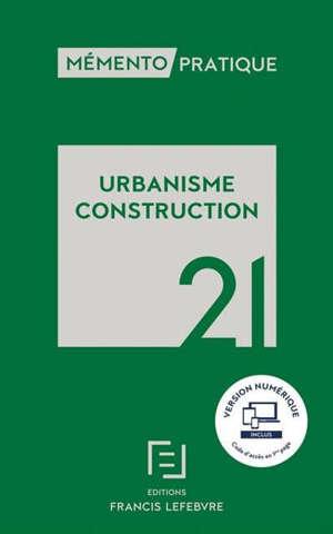 Urbanisme, construction 2021