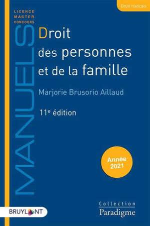 Droit des personnes et de la famille : année 2021