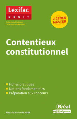 Contentieux constitutionnel : licence, master