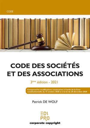 Code des sociétés et des associations : 2021