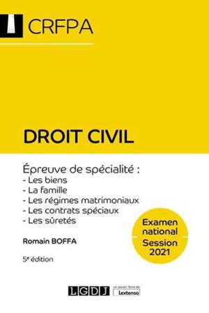 Droit civil : examen national, session 2021, épreuve de spécialité : les biens, la famille, les régimes matrimoniaux, les contrats spéciaux, les sûretés