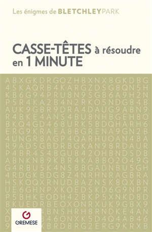 Casse-têtes à résoudre en 1 minute