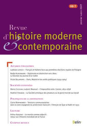 Revue d'histoire moderne et contemporaine. n° 68-1