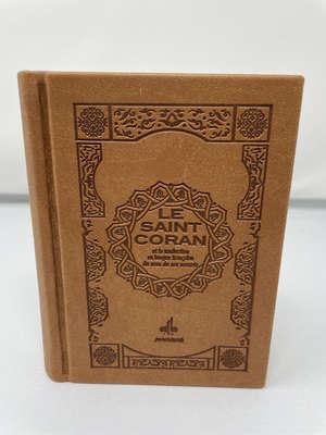 Le saint Coran bilingue : couverture daim marron
