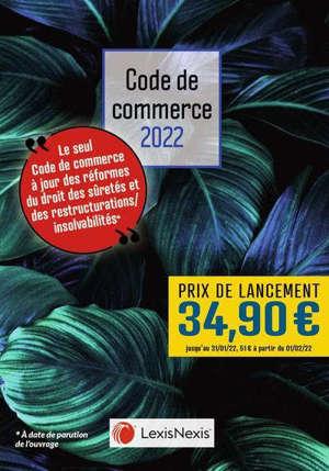 Code de commerce 2022 : jaquette feuilles