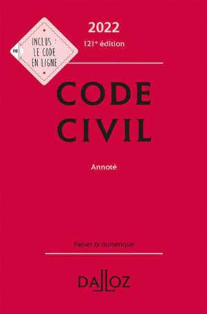 Code civil 2022, annoté