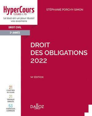 Droit des obligations : droit civil 2e année : 2022