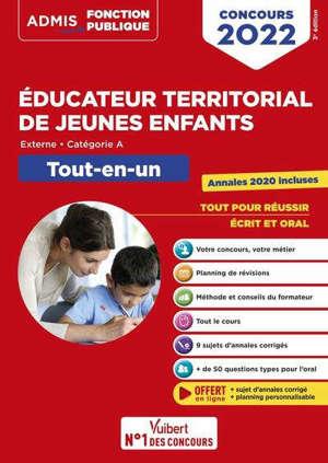 Educateur territorial de jeunes enfants : externe, catégorie A : tout-en-un, concours 2022