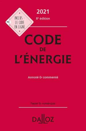 Code de l'énergie 2021