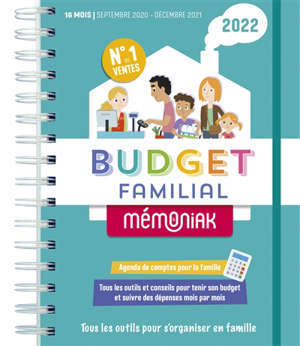 Budget familial 2022 : agenda de comptes pour la famille : 16 mois, septembre 2021-décembre 2022