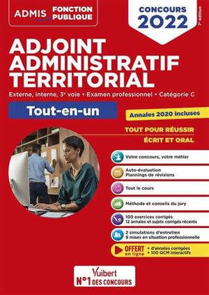 Adjoint administratif territorial : externe, interne, 3e voie, examen professionnel, catégorie C : tout-en-un, concours 2022