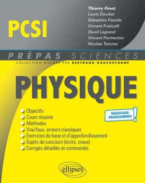Physique PCSI : nouveaux programmes