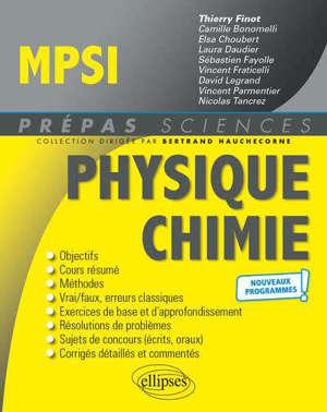 Physique chimie MPSI : nouveaux programmes