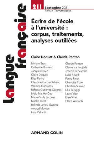 Langue française, n° 211