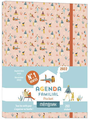 Agenda familial pocket 2022 : septembre 2021-décembre 2022