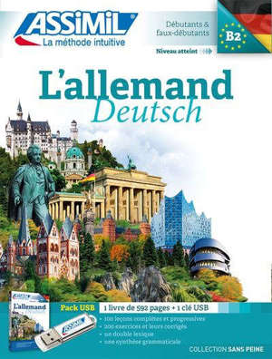 L'allemand : débutants & faux débutants, niveau atteint B2 : pack USB