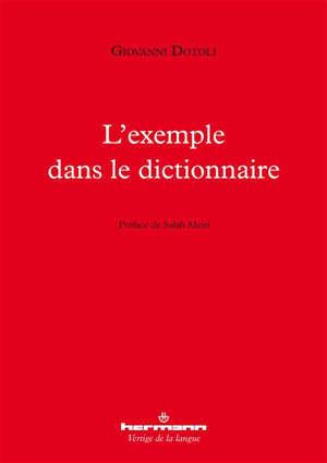 L'exemple dans le dictionnaire