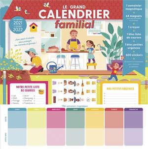 Le grand calendrier familial : de septembre 2021 à décembre 2022