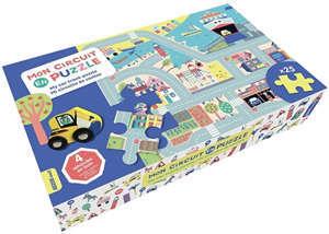 Mon circuit en puzzle. My car track puzzle. Mi circuito de coches