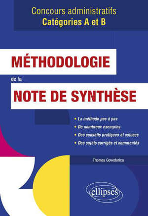 Méthodologie de la note de synthèse : concours administratifs catégories A et B