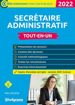 Secrétaire administratif, 2022 : cat. B : tout-en-un