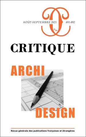 Critique. n° 891-892, Archi-design