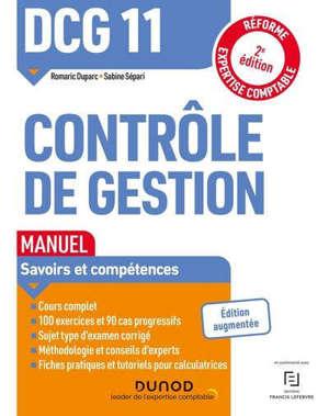 DCG 11, contrôle de gestion : manuel : 2021-2022